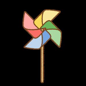 かざぐるまのフリーイラスト Clip art of pinwheel