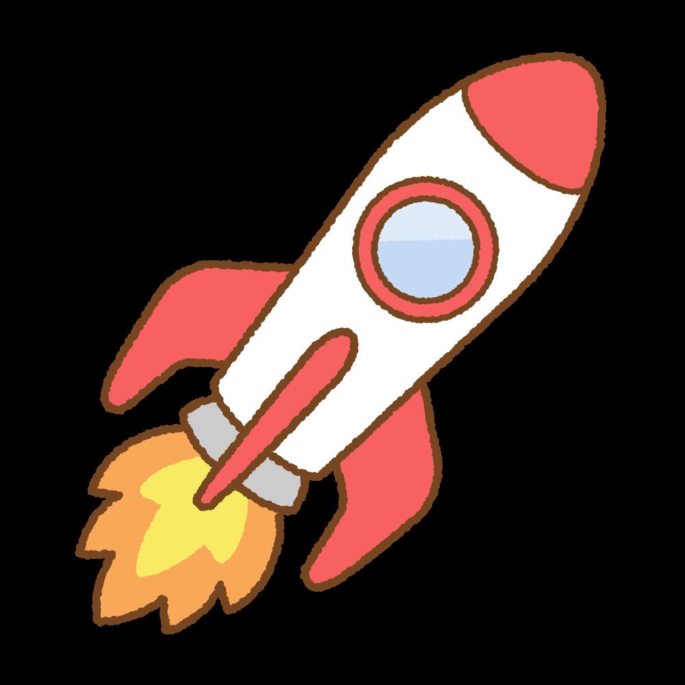 ロケットのフリーイラスト Clip art of rocket
