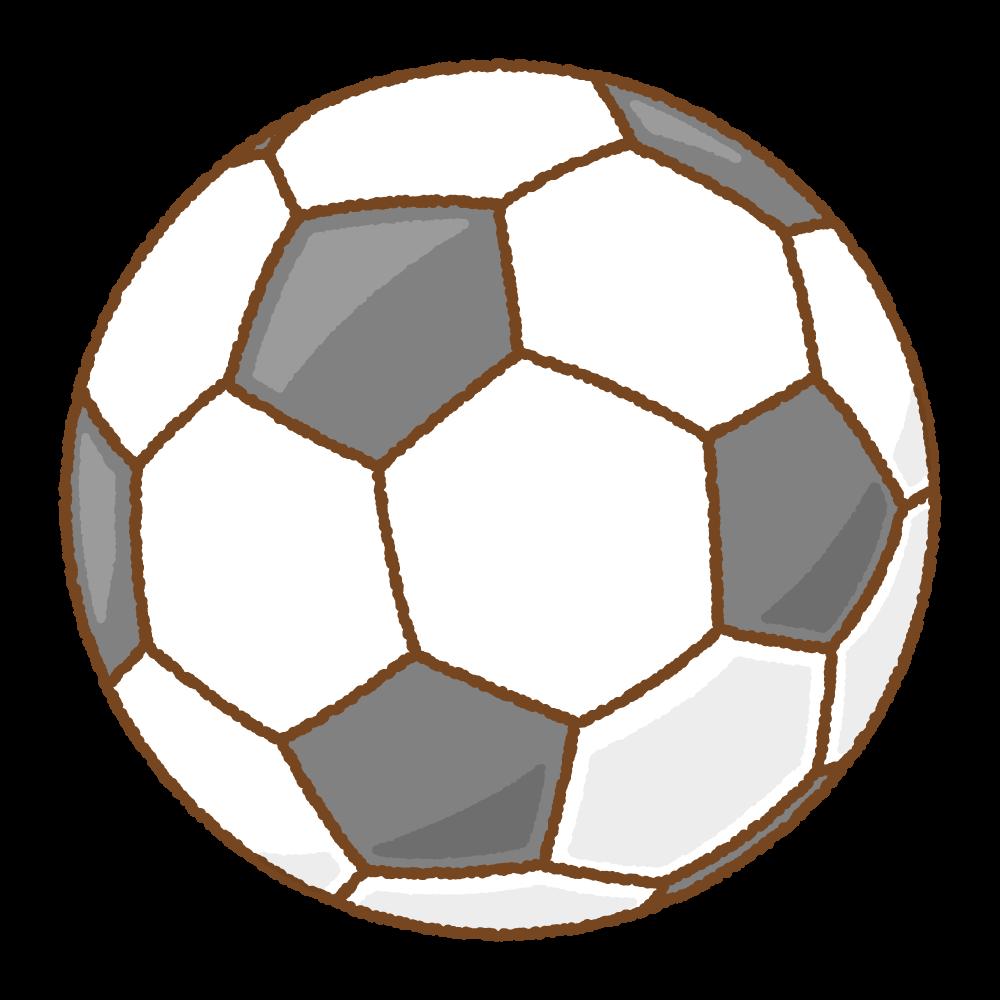 サッカーボールのフリーイラスト Clip art of soccer-ball