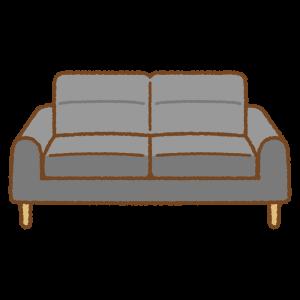 ソファのフリーイラスト Clip art of sofa