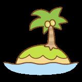 南の島のフリーイラスト Clip art of south-island