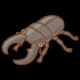 クワガタムシのフリーイラスト Clip art of stag-beetle