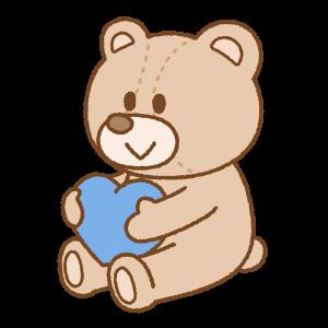 ホワイトデーのクマのぬいぐるみのフリーイラスト Clip art of white-day stuffed-bear
