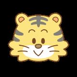 トラの顔のイラスト