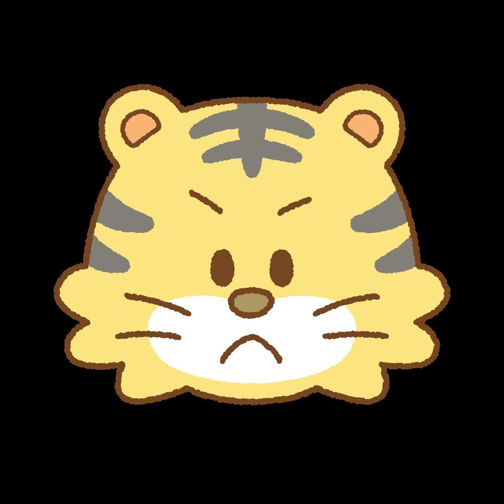 トラの顔のフリーイラスト Clip art of tiger face