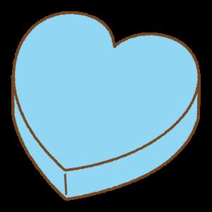ホワイトデーカラーのハート型の箱のフリーイラスト Clip art of white-day heart-box