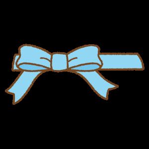 ホワイトデーカラーのハート型の箱のリボンのフリーイラスト Clip art of white-day heart-box ribbon