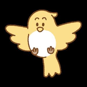 飛ぶ鳥のフリーイラスト Clip art of flying-bird