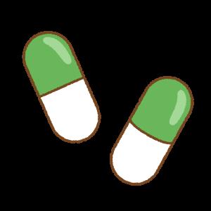 カプセル薬のフリーイラスト Clip art of capsule-medicine