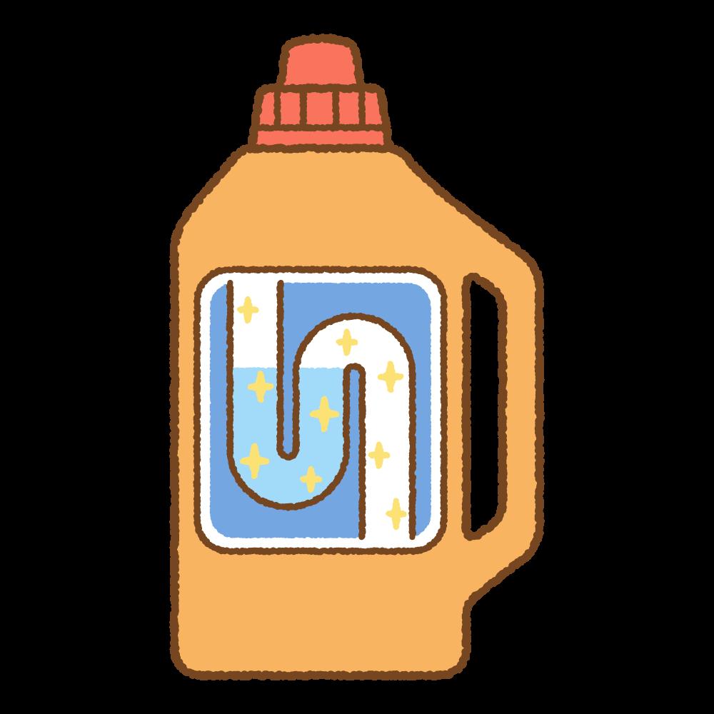 パイプ洗浄剤のフリーイラスト Clip art of clog-clearing-gel