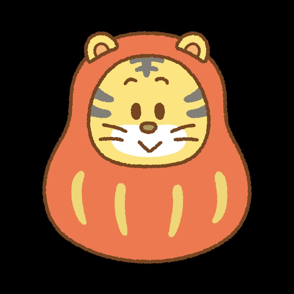 トラのだるまのフリーイラスト Clip art of daruma-tora