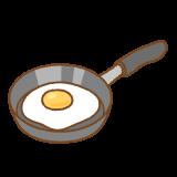 目玉焼きのフリーイラスト Clip art of fired-egg