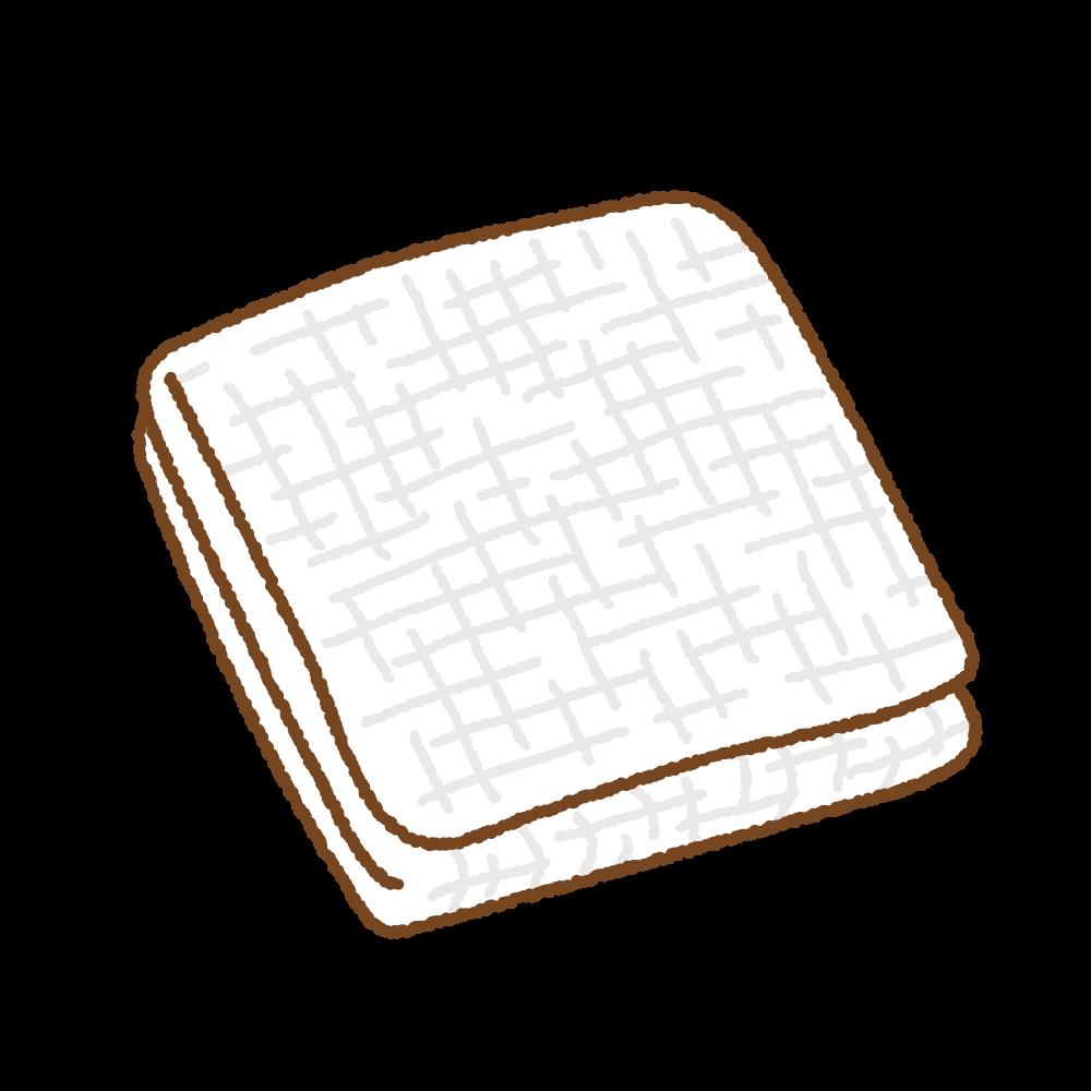 ガーゼのフリーイラスト Clip art of gauze
