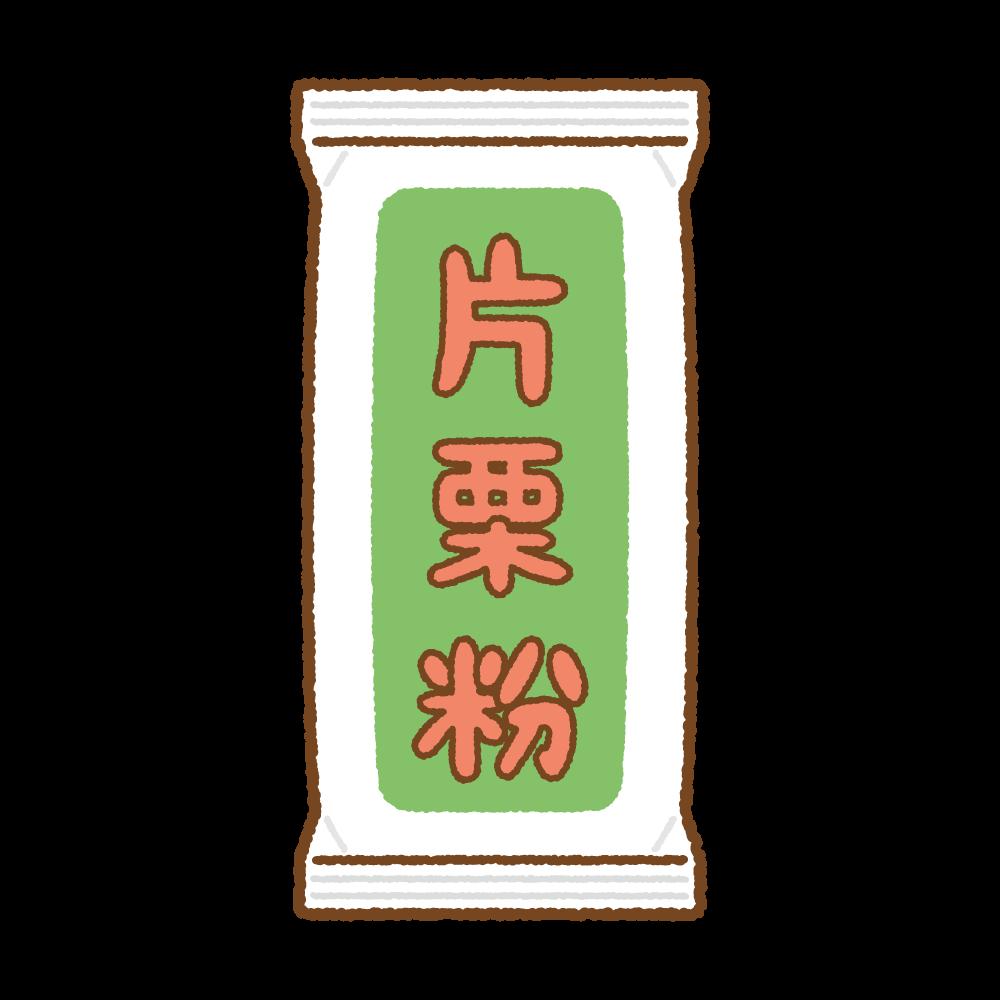片栗粉のフリーイラスト Clip art of katakuriko