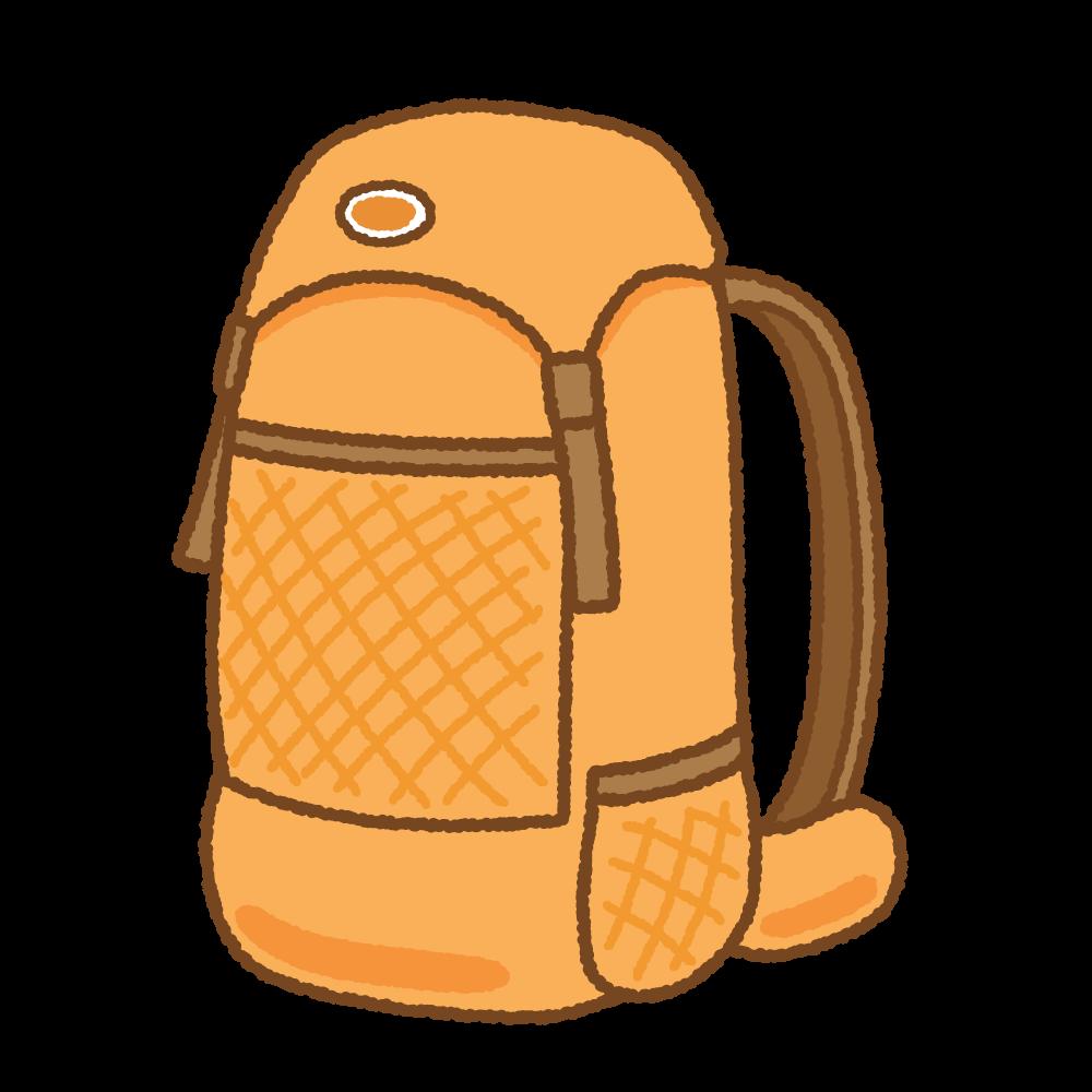 登山用バックパックのフリーイラスト Clip art of mountaineering-backpack