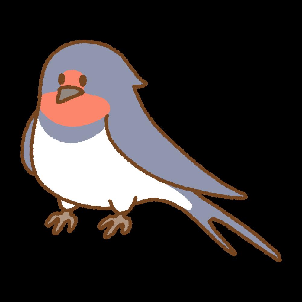 ツバメのフリーイラスト Clip art of swallow