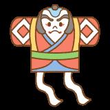 凧のフリーイラスト Clip art of tako