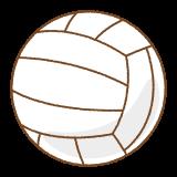 バレーボールのフリーイラスト Clip art of volleyball
