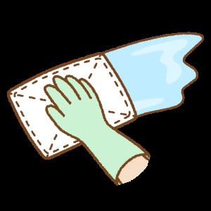 拭き掃除のフリーイラスト Clip art of wiping
