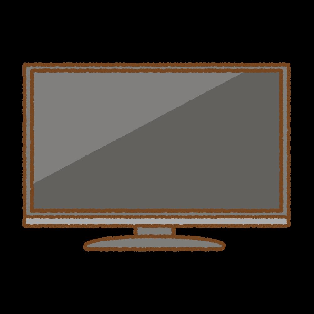 テレビのフリーイラスト Clip art of television