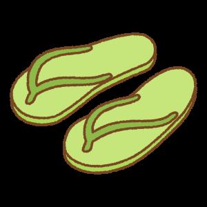 ビーチサンダルのフリーイラスト Clip art of beach-sandal