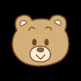 クマの顔のイラスト