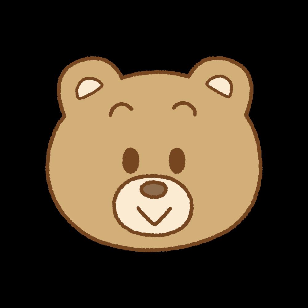 クマの顔のフリーイラスト Clip art of bear face