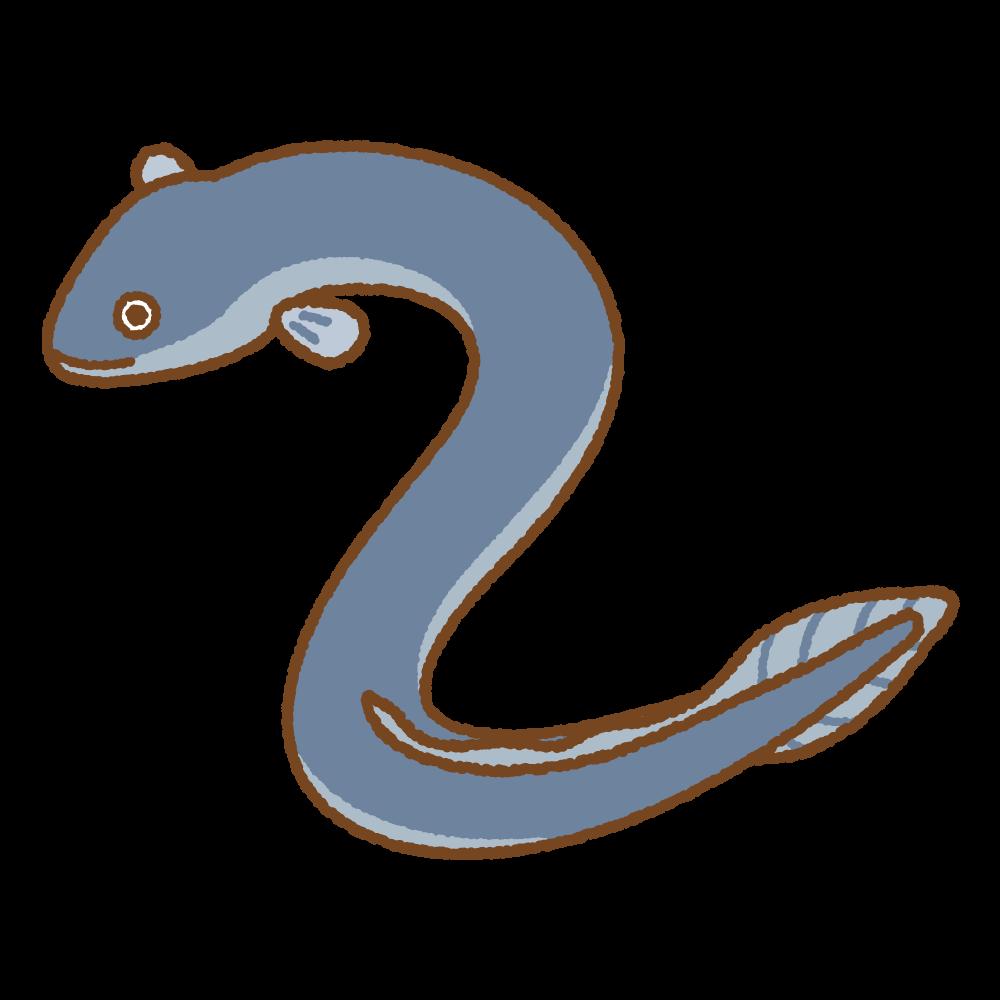 ウナギのフリーイラスト Clip art of eel