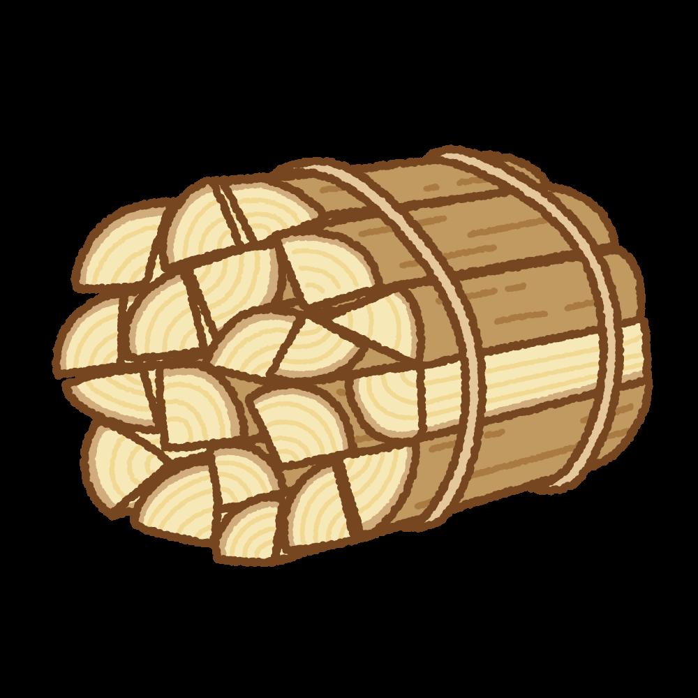 薪のフリーイラスト Clip art of firewood