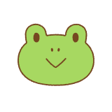 カエルの顔のフリーイラスト Clip art of frog face