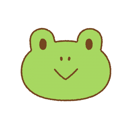 カエルの顔のイラスト
