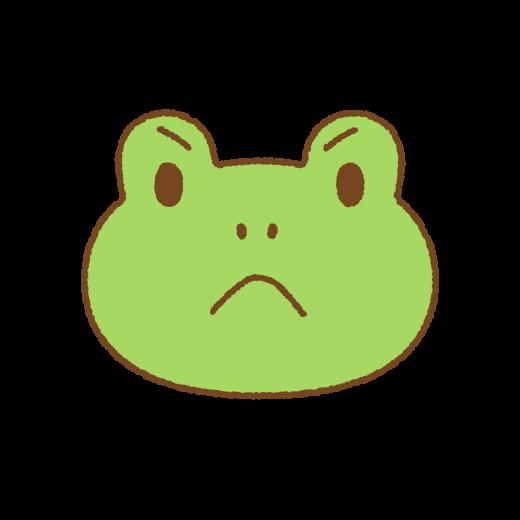 カエルの怒り顔のイラスト