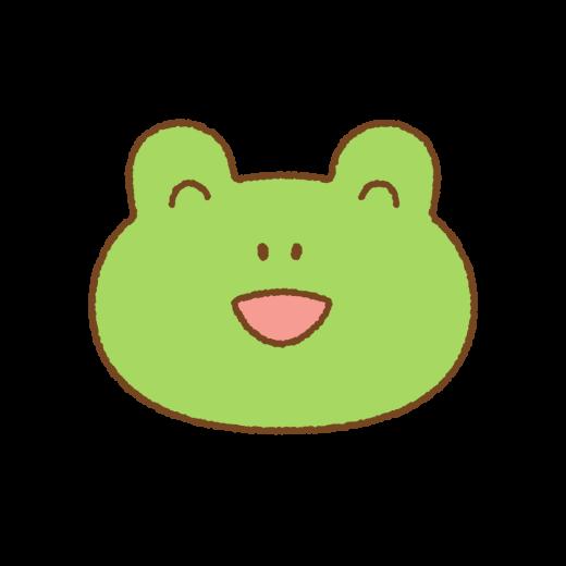 カエルの笑顔のイラスト