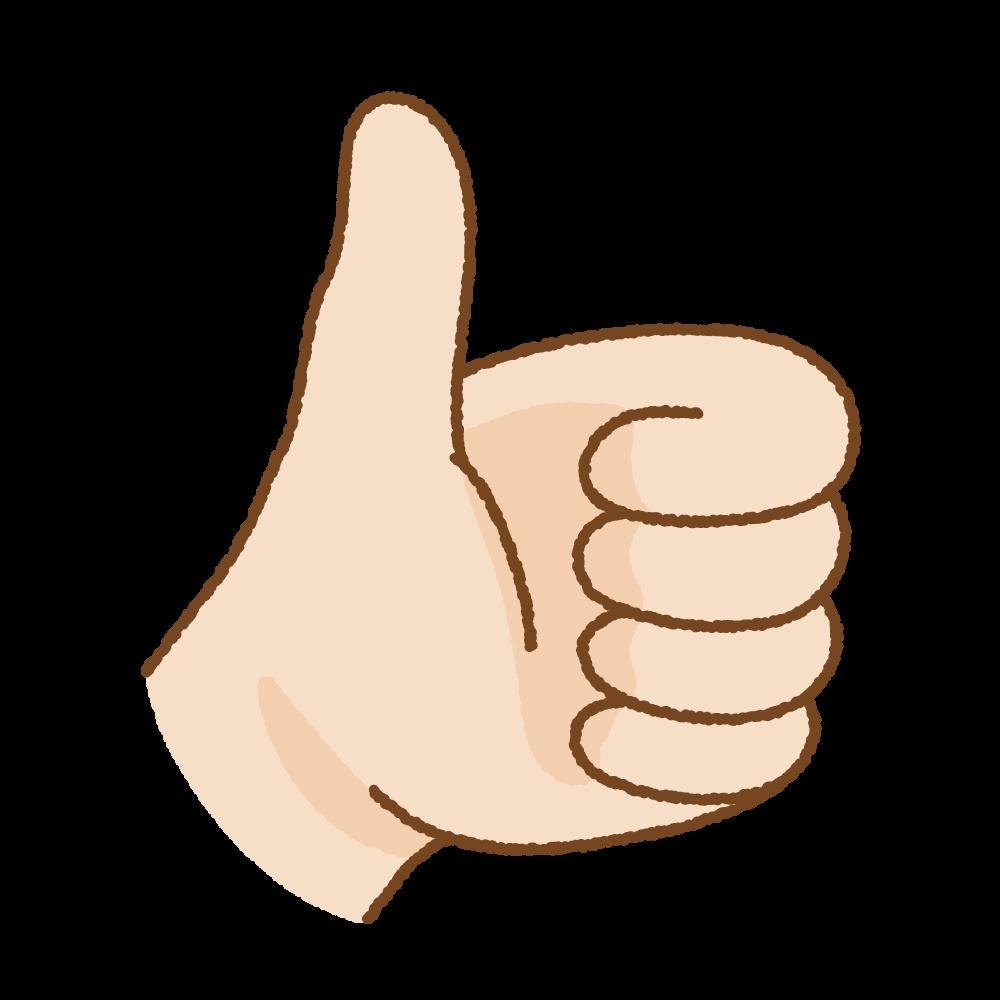 いいねのハンドサインのフリーイラスト Clip art of hand-sign good
