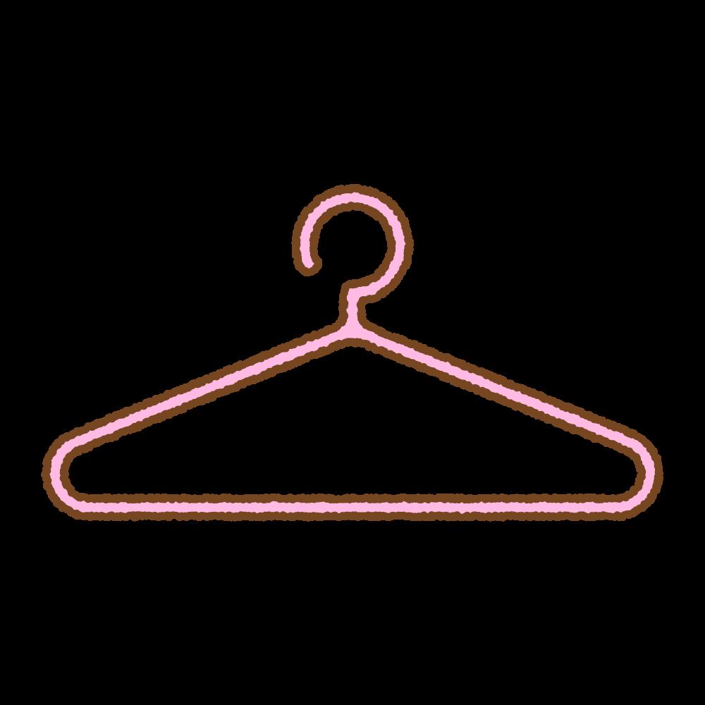 プラスチックハンガーのフリーイラスト Clip art of plastic-hanger