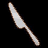 ナイフのイラスト