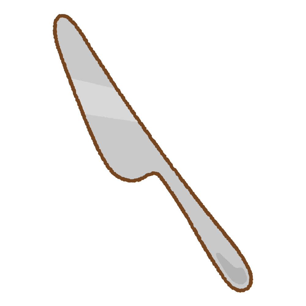 ナイフのフリーイラスト Clip art of knife-tableware