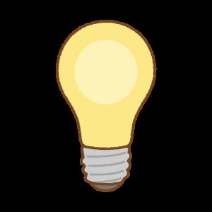 電球のフリーイラスト Clip art of light-bulb