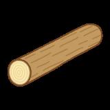 丸太のフリーイラスト Clip art of log