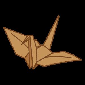 折り鶴のフリーイラスト Clip art of origami crane
