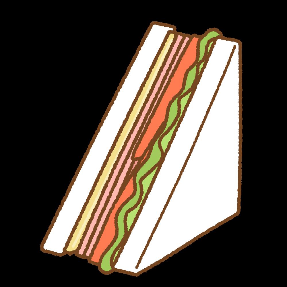 サンドイッチのフリーイラスト Clip art of sandwich