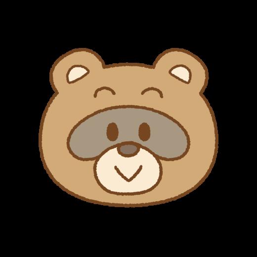 タヌキの顔のイラスト