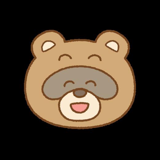 タヌキの笑顔のイラスト