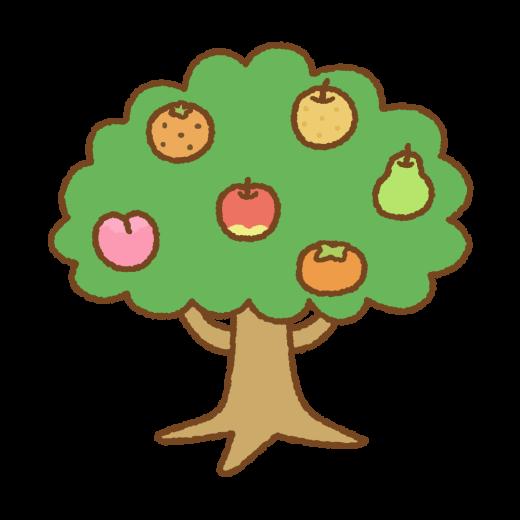 フルーツの木のイラスト