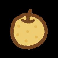 梨のフリーイラスト Clip art of nashi