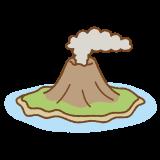 火山島のイラスト
