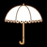 日傘のイラスト