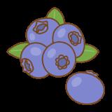 ブルーベリーのフリーイラスト Clip art of bluberry