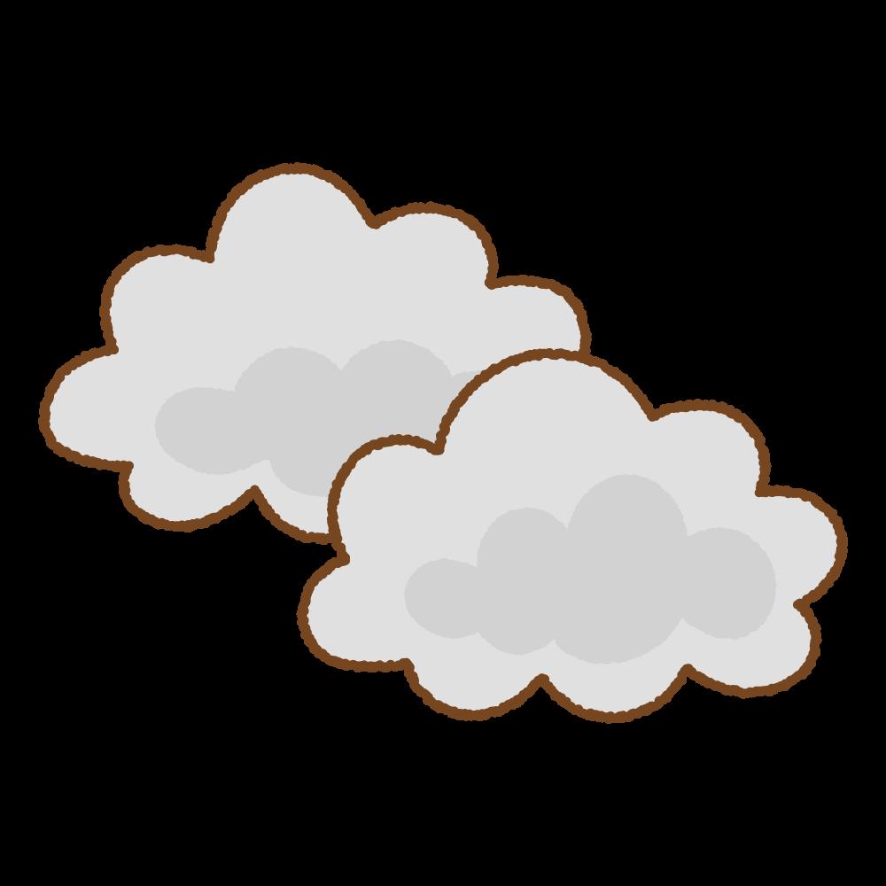 くもりのフリーイラスト Clip art of cloudy