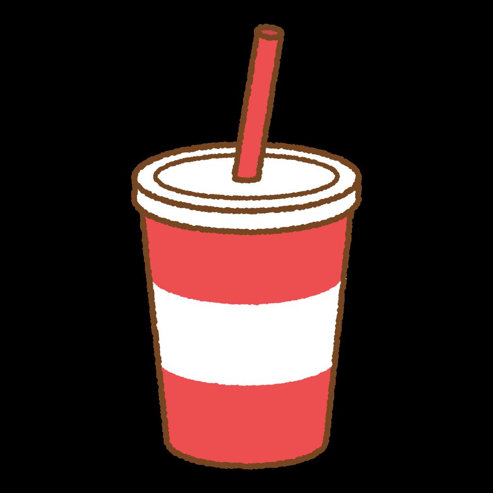 カップドリンクのフリーイラスト Clip art of cup-drink